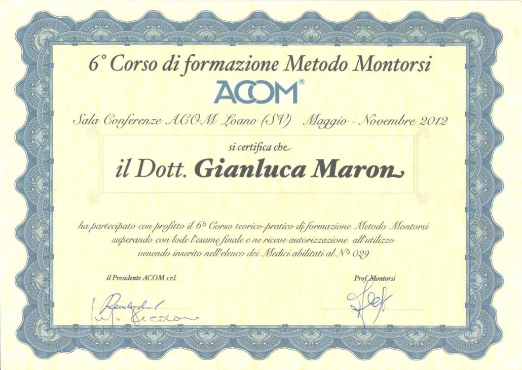 Diploma Metodo Montorsi